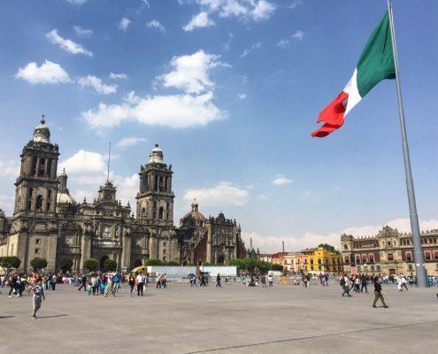 Itinéraire Chiapas : La place centrale du centre historique de la ville de Mexico