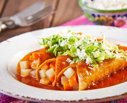 enchiladas mineras cuisines mexique