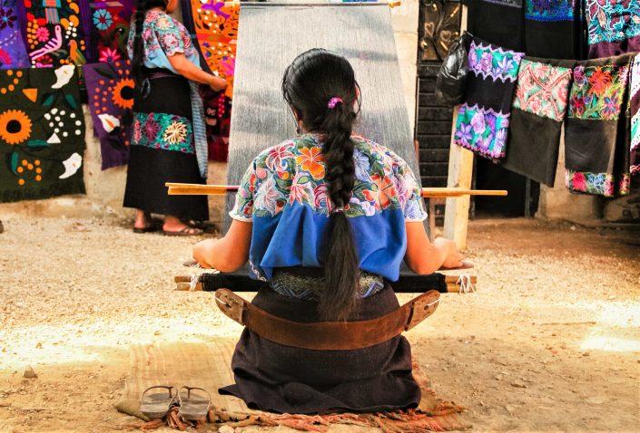 Artisanat mexicain Tissage textile Chiapas