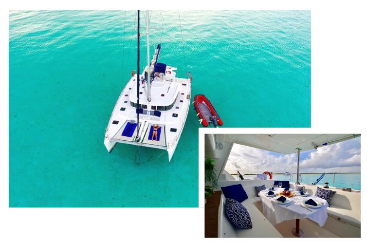 Voyage de noces Mexique - Diner en catamaran