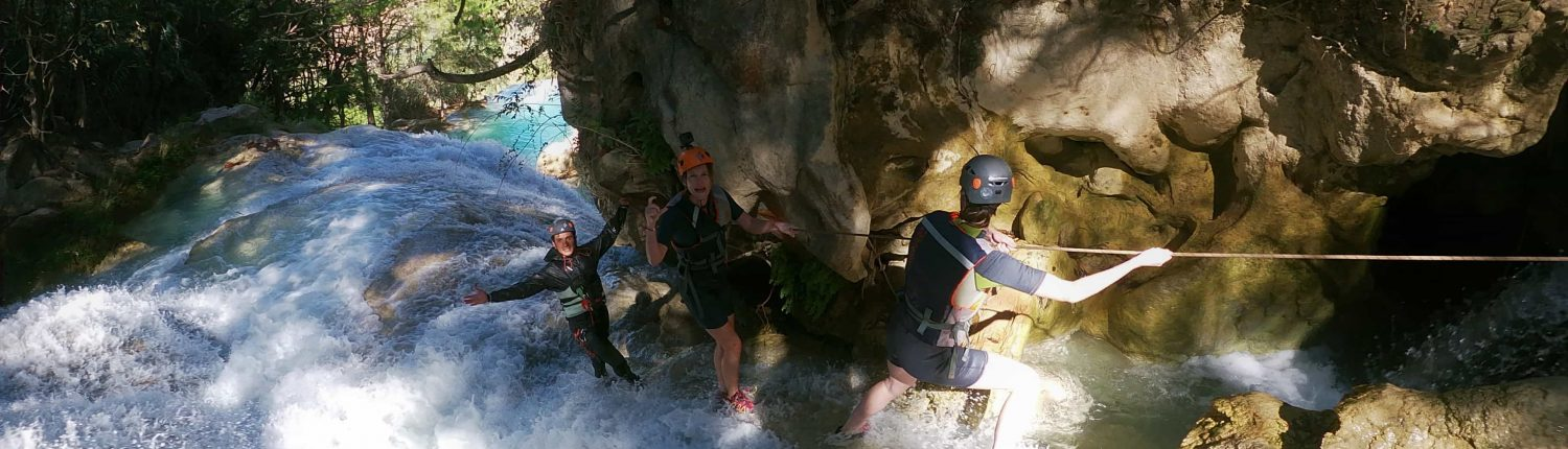 Canyoning Mexique, Tyrolienne, sensations fortes au Mexique