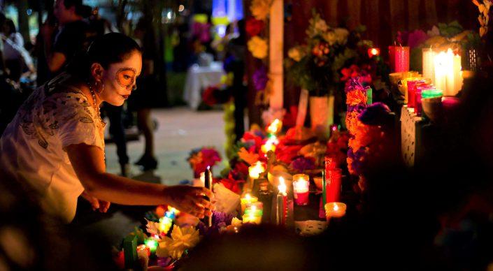 Autels des morts au Mexique, tour pour la Fête des morts à Mexico City