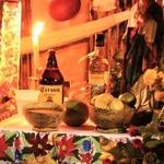 Boissons autels des morts pour le día de los muertos au Mexique