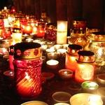 Bougies pour el día de los muertos au Mexique