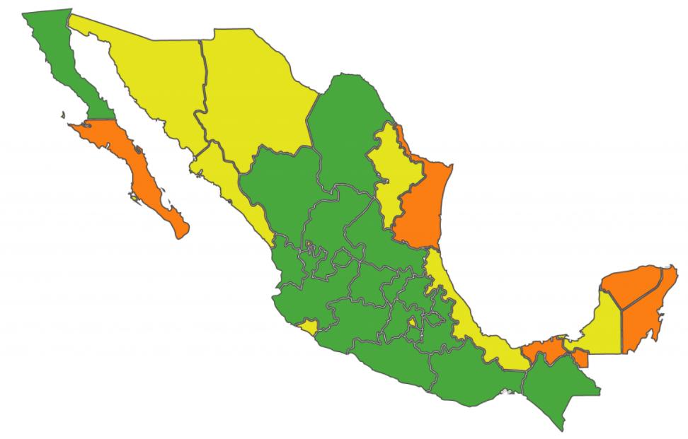semaforo covid mexico